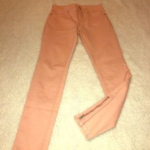 Express Salmon colored Ankle Mid RiseJeans
